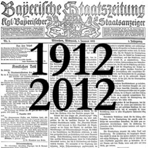 100 Jahre Bayerische Staatszeitung